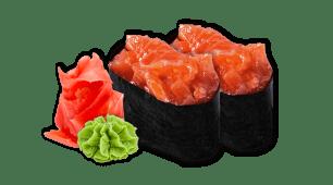 Гункан з лососем (2шт)