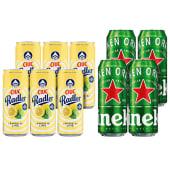 6X Ciuc Radler  Lamaie si Lime  FARA ALCOOL 330ml + 4X Heineken doza