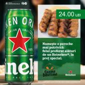 Mititei + Heineken