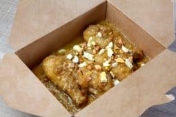 Guiso de pollo en pepitoria