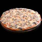 Pizza de champiñones (personal)