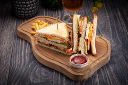 Клаб-сэндвич с куриным филе