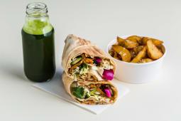 Vegan kebs oriental + ziemniaczki + lemoniada