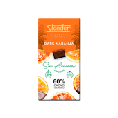 Chocolate Dark, 60% con naranja (100 g.)