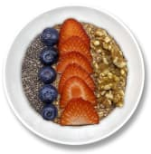 Bowl de avena y fruta