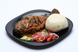 Ugali served with fish