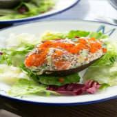 Салат з авокадо та лососем (250г)