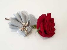 Broche en Strass Fleur