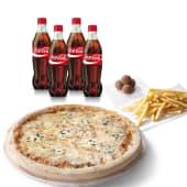 Menú familiar (pizza familiar + 4 bebidas 500 ml.)