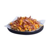 Batatas Fritas com molho de Queijo Cheddar e Bacon