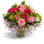 Doce rosas en tono pastel