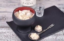Крем-суп грибний з міні-хінкалі з грибами (320г)