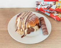 Nut Burger com Creme Kinder Bueno