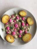 Карпачо з оселедця з кремом з печеного буряка і картоплею (230г)