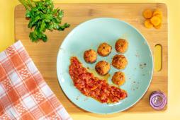 Chiftelute Vegane cu sos rosu