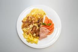Omleta sunca si mozzarella + racoritoare  - 500ml