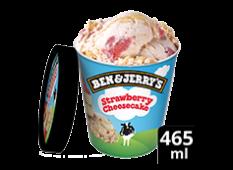 Helado Strawberry Cheesecake