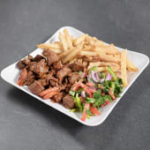 Beef fry with chips