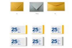 Maco 25 Envelopes Militar Ouro