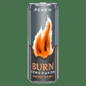 Burn Energy Peach Zero Cukor 0.25l