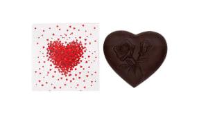 Coração Pequeno Chocolate Negro