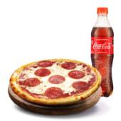 PIZZA INDIVIDUAL ESPECIAL + GASEOSA (500 ml.)
