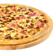 1 pizza grande con hasta 3 ingredientes