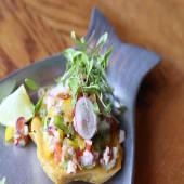 Tosta mexicana de salpicón de pulpo (2 uds.)
