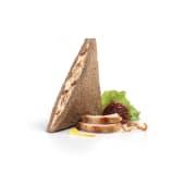 Sándwich pollo mostaza