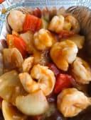 57.Gamberetti salsa agro-dolce