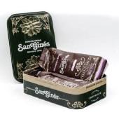 Caja metálica San Ginés con 2 bolsas de chocolate (500g)