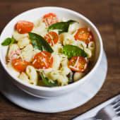 Caprese pasta bowl