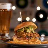 Hamburguesa pulled pork