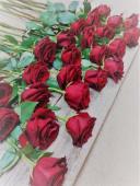 Ramo De 12 Rosas Rojas Con Verdes Variados
