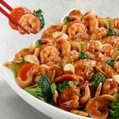 Chop suey de camarones con semilla de marañón