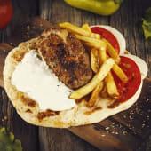 Pita Beefsteak with Cheese