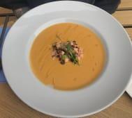 Крем-суп із батату і тартара із лосося  (350г)