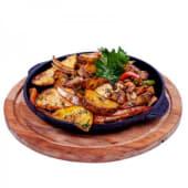 Пательня з картоплею, свининою та грибами (100/280г)