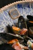 Мідії у вершково-винному соусі з часником (400г)