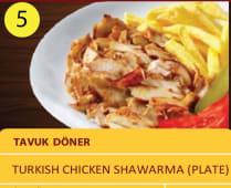 Tavuk doner - Durum Turkish chicken shawarma plate 130gr
