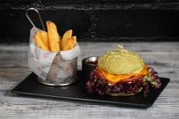 Вегетаріанський бургер з картопляними діпамі (330/100/30г)