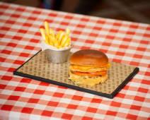 Burger chicken & cheddar