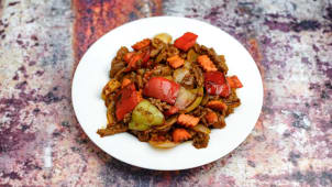 Sichuan with vegetables