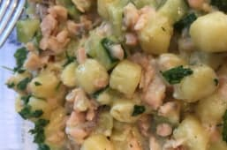 Gnocchetti salmone e zucchine