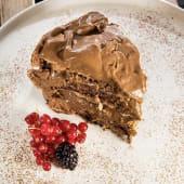 Bolo de Merengue de Chocolate - Fatia