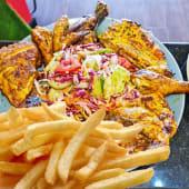 5 chicken + chips + salad + 2 free soda 350ml