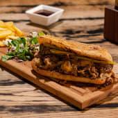 Meniu Cheesesteak sandwich