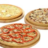 3 pizzas medianas (masa clásica)