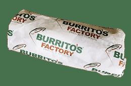 burrito mixto de pollo y cerdo en tortilla