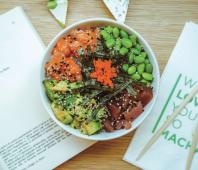 Salmon & tuna high-protein sushi bowl